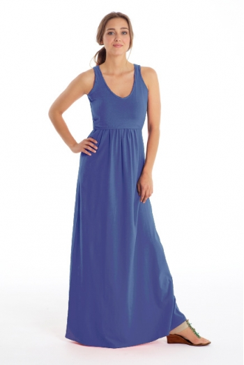 Платье для кормящих Must Have V-Neck Maxi, Deep Periwinkle