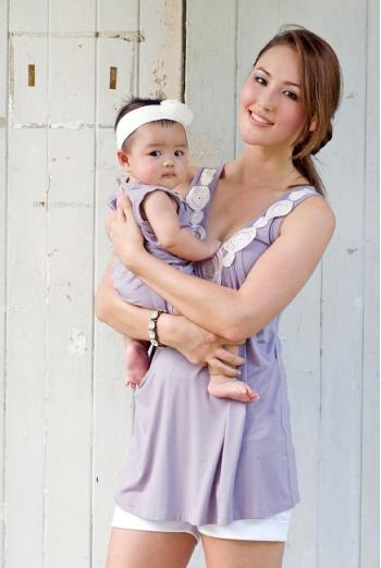 Боди Zahra Applique для малыша, сиреневый