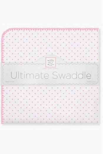 Фланелевая пеленка для новорожденного SwaddleDesigns Bt. Pink Polka Dot