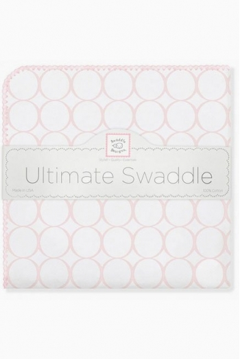 Фланелевая пеленка для новорожденного SwaddleDesigns Pink Mod on WH