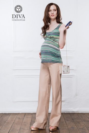 Топ для кормящих и беременных Diva Nursingwear Alba, цвет Kiwi