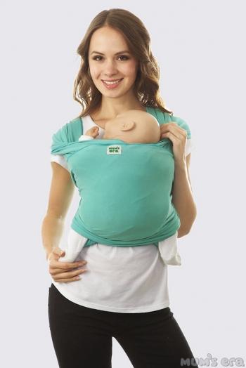 Слинг-шарф трикотажный, зеленый