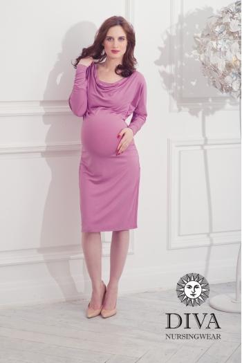 Платье для кормящих и беременных Diva Nursingwear Paola, цвет Berry