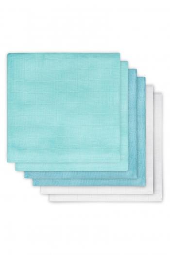 Муслиновые пеленки для новорожденных Jollein средние, mint/lagoon/white