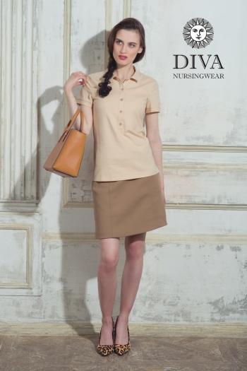 Топ для кормления Diva Nursingwear Polo, цвет CelesteТоп для кормления Diva Nursingwear Polo, цвет Grano