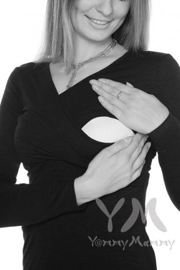 Лонгслив кимоно для кормящих и беременных, цвет черный