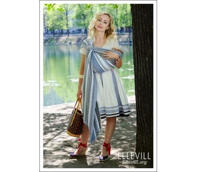 Слинг с кольцами Ellevill Zara Tricolor Blue