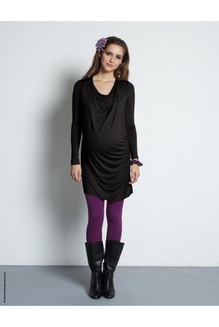 """Туника для кормления Mothers en Vogue """"Vesta Maxi"""", цвет черный"""