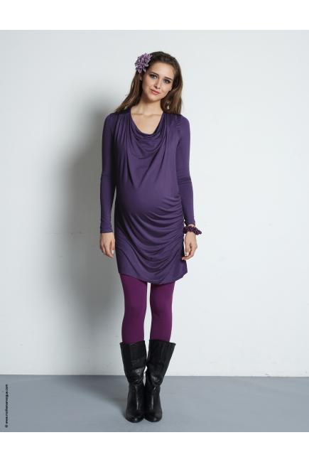"""Туника для кормления Mothers en Vogue """"Vesta Maxi"""", цвет фиолетовый"""