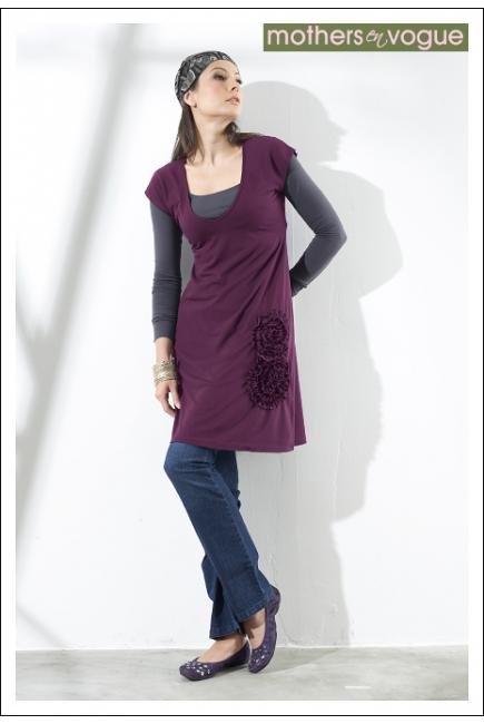 """Туника Mothers en Vogue """"Adriana Applique"""", цвет фиолетовый"""