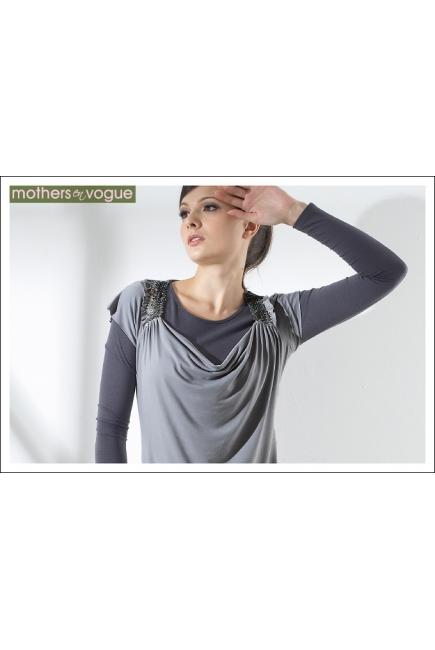 """Туника Mothers en Vogue """"Moonstruck Deco"""", цвет светло-серый"""