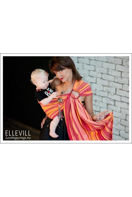Слинг с кольцами Ellevill Zara Tricolor Coral Summer