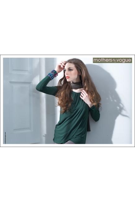 """Топ для кормления Mothers en Vogue """"Goddess Drape"""", цвет темно-зеленый"""