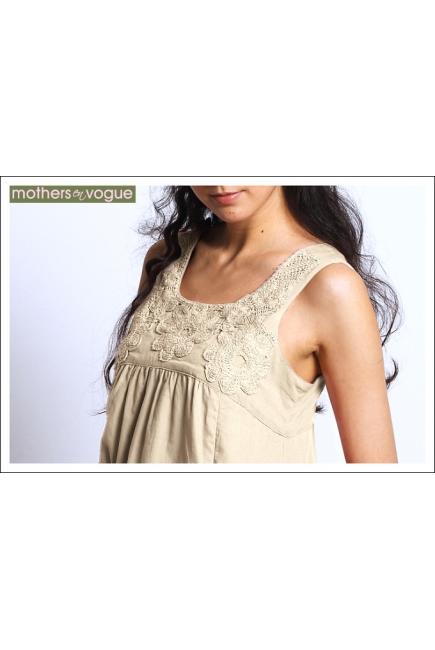 """Платье Mothers en Vogue """"Macrame Sundress"""", цвет бежевый"""