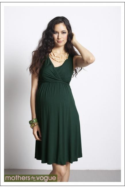"""Платье Mothers en Vogue """"Wrap Dress"""" без рукавов, цвет зеленый"""