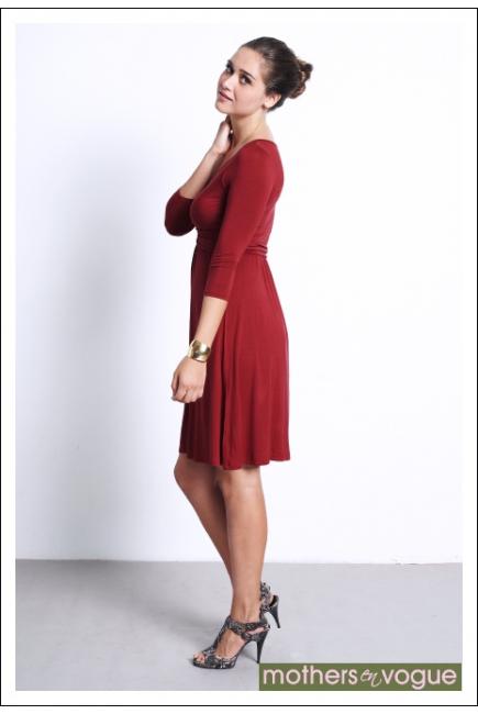 """Платье Mothers en Vogue """"Wrap Dress"""", рукав 3/4, цвет гранатовый"""
