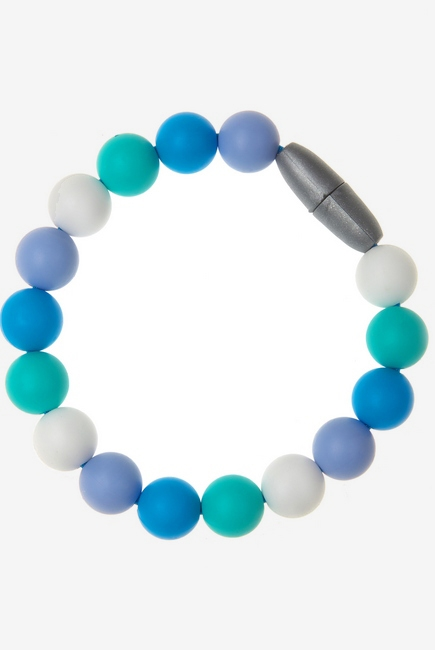 Силиконовый браслет-прорезыватель Майя, голубой