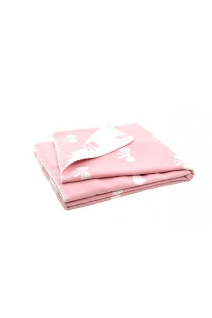 """плед для новорожденных, цвет """"Розовые бантики"""""""