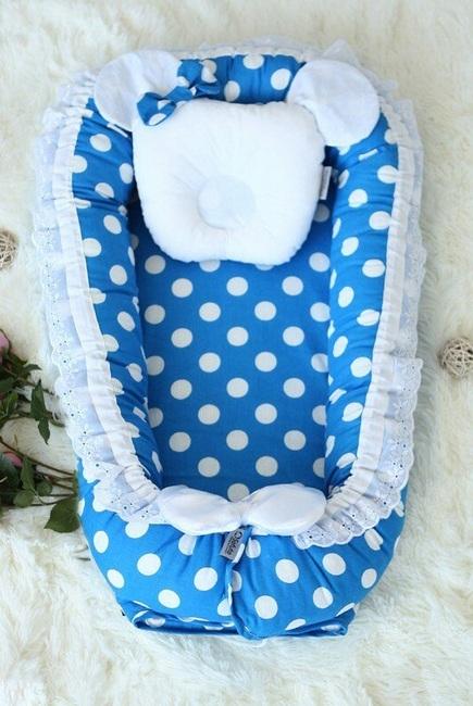 Гнездышко-кокон для новорожденных Babynest Vasilek