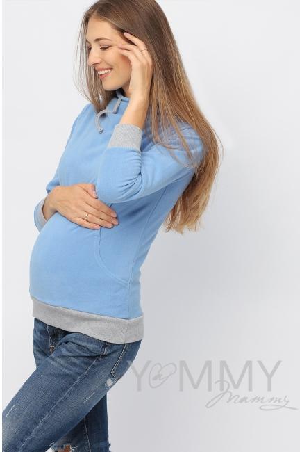 """Толстовка YammyMammy (ямми мамми) флисовая, цвет """"голубой"""""""