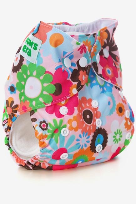 Многоразовый подгузник Mums Era, Цветы (с 2 вкладышами)