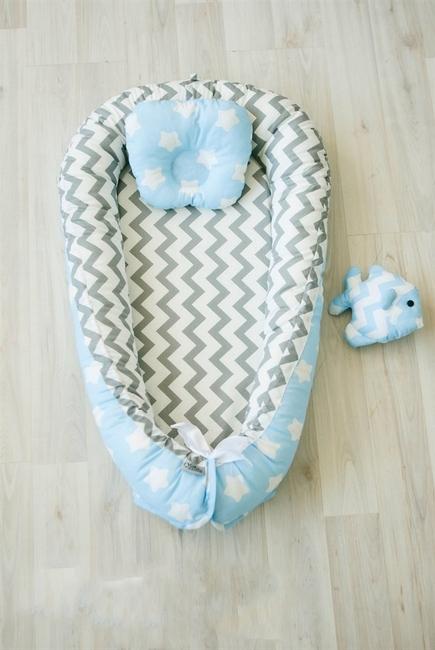 Кокон-гнездышко для новорожденных Babynest Frosty Morning