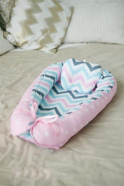 Позиционер для сна новорожденного Babynest Vanilla Wave