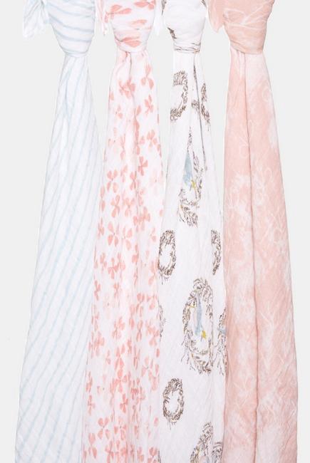 3ac98e49e4304 Муслиновые пеленки для новорожденных Aden&Anais, большие, набор 4, ...