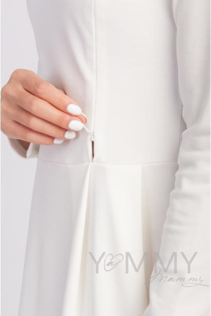 Платье со складками экрю для беременных
