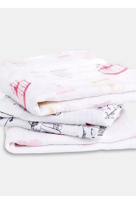 Муслиновые пеленки для новорожденных Aden&Anais средние, набор 3, Love Bird