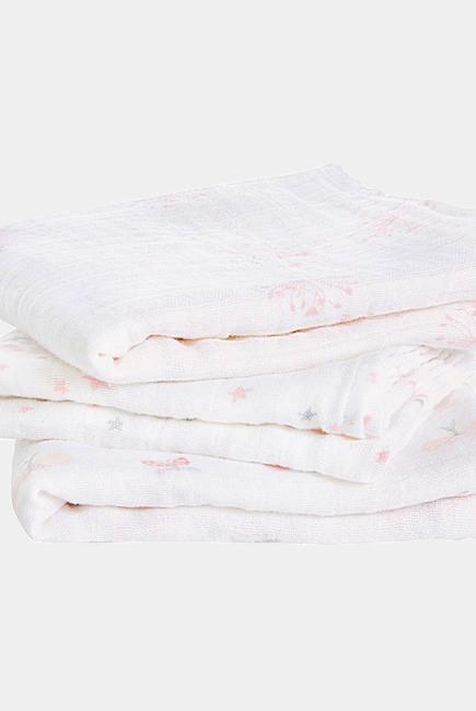 Муслиновые пеленки для новорожденных Aden&Anais средние, набор 3, Lovely Reverie