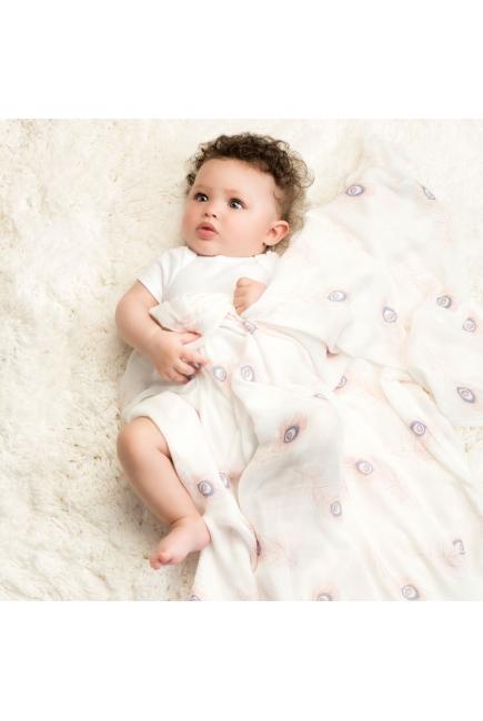 Бамбуковые пеленки для новорожденных Aden&Anais большие, набор 3, Featherlight