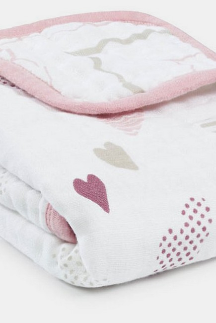 Муслиновое одеяло для коляски Aden&Anais, Stroller Blanket Heart Breaker