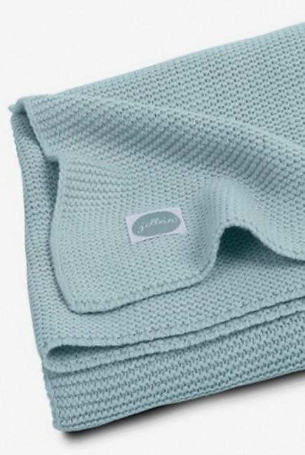 Вязаный плед для новорожденных Jollein Basic Knit, серо-зеленый