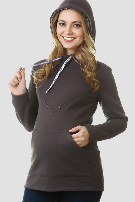 Толстовка для кормящих и беременных из футера Betty, антрацит