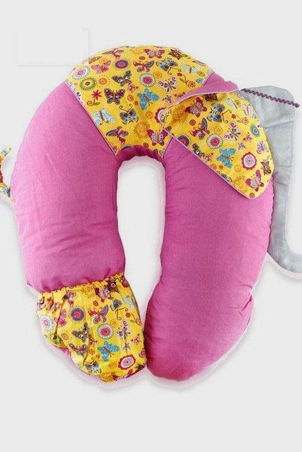 """Подушка для беременных и кормящих """"Слон Радостный"""", розовый"""