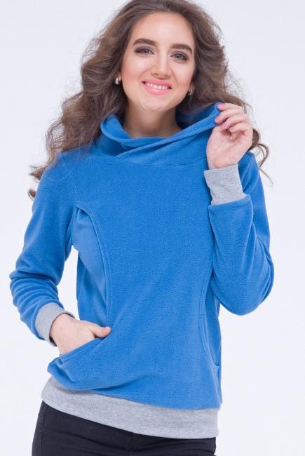 Толстовка для кормящих и беременных флисовая Diva Nursingwear, Notte