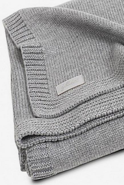 Вязаный плед для новорожденных Jollein Natural, серый