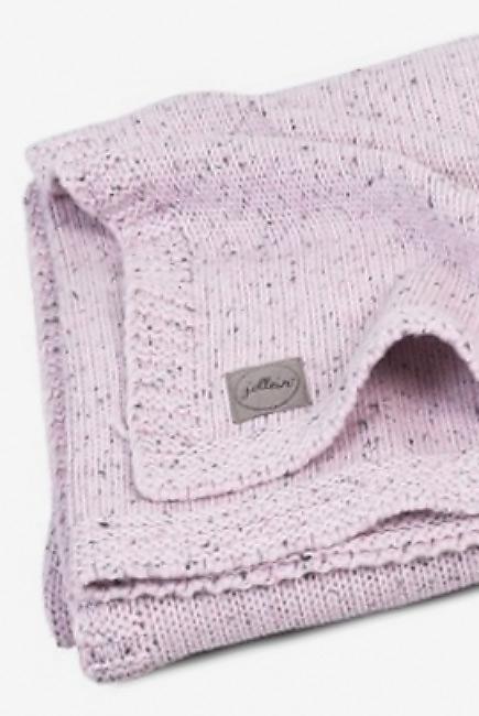 Вязаный плед для новорожденного Jollein Confetti, розовый, средний