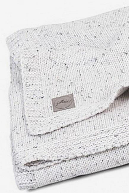 Вязаный плед для новорожденного Jollein Confetti Knit, молочный