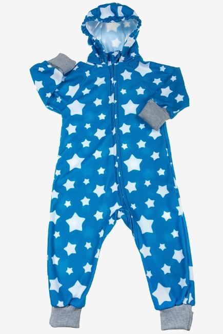 Флисовый комбинезон детский (поддева) Comfort, голубые звезды