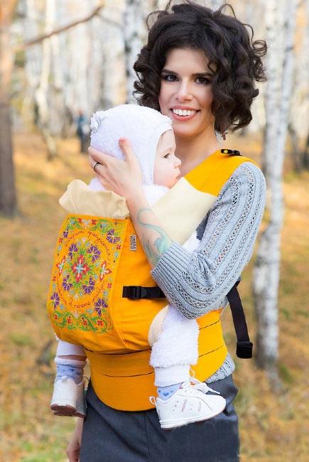 Эрго-рюкзак Etno, желтый