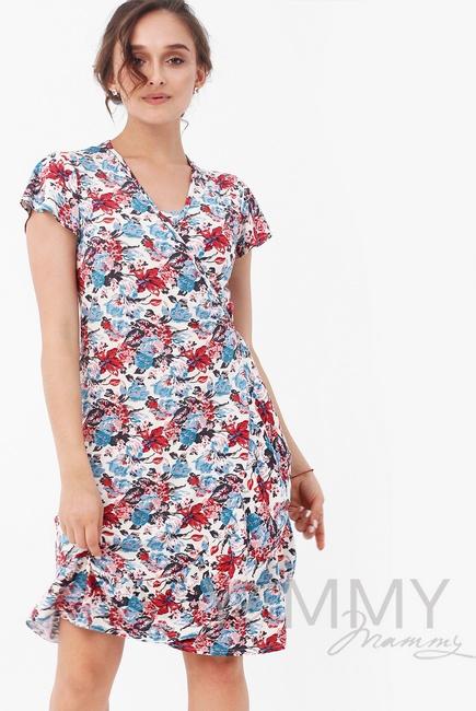 Платье для беременных и кормящих на запах, цвет цветочный принт ... 69443deb6a7