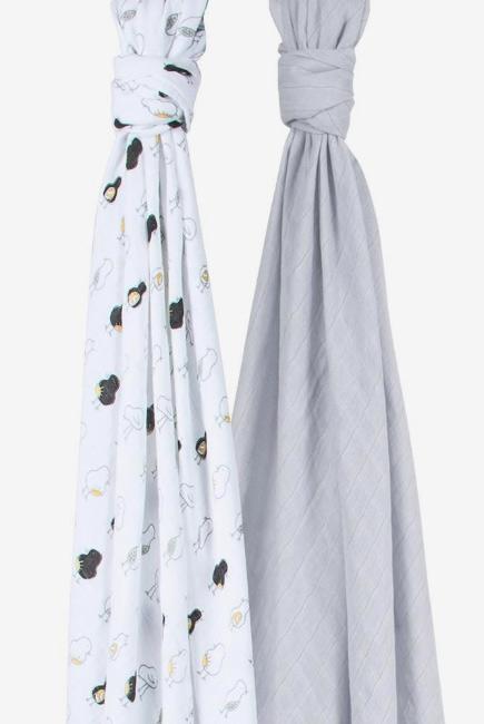 Бамбуковые пеленки для новорожденных Bebe Au Lait, набор 2, Pipit and Pebble