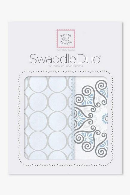 Набор пеленок SwaddleDesigns Swaddle Duo, Blue Mod Medallion