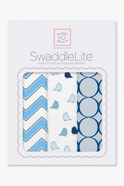 Набор пеленок SwaddleDesigns - SwaddleLite, Chic Chevron Lite Blue