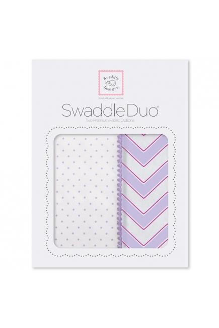 Набор пеленок SwaddleDesigns Swaddle Duo LV Classic Chevron