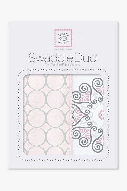 Набор пеленок SwaddleDesigns - Swaddle Duo, Pink Mod Medallion