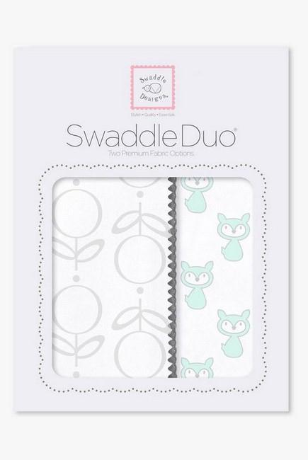 Набор пеленок SwaddleDesigns Swaddle Duo, SeaCrystal Little Fox