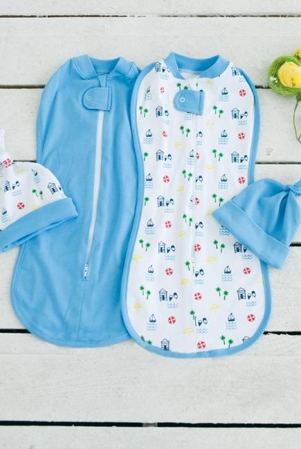 Комплект пеленок-коконов для новорожденных, Sea Beach